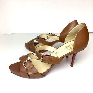 C Louboutin Atalanta 85 sandals in cognac size:41